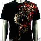Artful T-Shirt Sz M L XL XXL Dragon RYU Yin Yang Graphic Tattoo Streetwear AB54