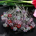 Wholesale Wedding Bridal Crystal Rhinestone Flower Hair Pin Clip Hair Bridesmaid