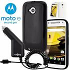 Shell Armor Hybrid Shockproof Hard Case+Car Charger For Motorola Moto E2 2nd Gen