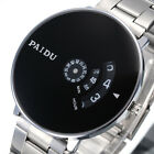PAIDU Fashion Large Dial Luxury Stainless Steel Sport Analog Quartz Wrist Watch