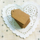 100x Kraft Paper Hang Tags Birthday Party Favor Gift Label Brown Cards Novelty