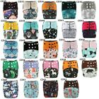 U PICK Charcoal Bamboo Baby Cloth Diaper Nappy Reusable Washable,Double Gussets