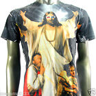 Minute Mirth T-Shirt Sz M L Tattoo Jesus God Angel Graffiti Skate Board N124