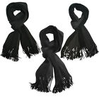 NEW Luxurious Soft Touch Feel Fashion Scarf Stripe - Black / Gery
