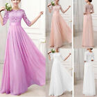 Fashion Women Lace Long Maxi Evening Party Dress Wedding Evening Dress Gown New