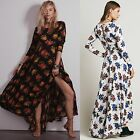Fabulous Ladies Holiday Womens Floral Full Length Maxi Party Evening Swing Dress