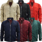 Mens Harrington Jacket Plain Lightweight Coat Outwear