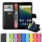 Premium Leather Wallet Card Pocket Case Cover  for LG Huawei Google nexus 6P 5X