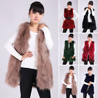 New Arrival Women Warm Outwear Long Slim Vest Real Fox Fur Waistcoat Jacket Coat