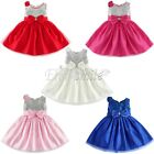 Infant Girls Sequined Flower Princess Party Wedding Pageant Communion Dress