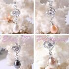 8-10mm Freshwater Pearl Natural Stone White Silver Plated Dangle Pendant 1 Pcs