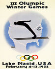 Ski 1932 Lake Placid New York Olympic Games 16 X 20 Vintage Poster FREE S/H US