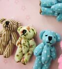 9 Mini Fabric Teddy Bear 4.5cm Craft Doll Applique/cute/baby H537-Pick Design
