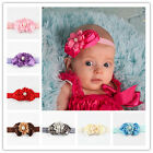 Newest Baby Headband Toddler Rose Flower Pearl Hair Band Accessories Headwear VN