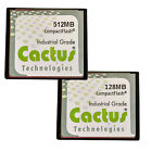 128MB 512MB CF CACTUS CompactFlash CF Memory Card Industrial Grade Genuine New