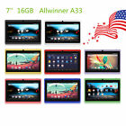 "16G 7"" Google Android 4.4 Dual Cameras WiFi Bluetooth Tablet PC Pad US Shipping"