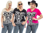 Fashion Women Summer Loose Short Sleeve Casual Shirt Tops Blouse PLUS SIZE 1X-3X