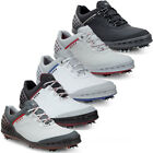 Ecco Mens Cage Hydromax Leather Upper Spiked Golf Shoes 132504