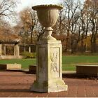 Botanico Garden Urn Planter with Pedestal Orlandi Statuary-Two Piece Set