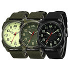 AK Military Army Canvas Nylon Strap Band Men's Quartz Tactical Sport Pilot Watch
