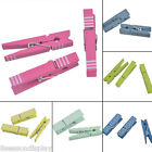 20PCs 45mm Natural Wood Craft Photo Clothespin Clothe Clips Paper Peg Clips
