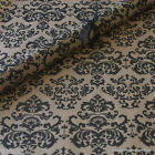 Black Baroque Patterned Christmas Kraft Brown Wrapping Paper 5 or 10 metres