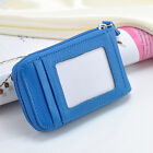 Mens Womens Mini Leather Wallet ID Credit Cards Holder Organizer Pocket Purse