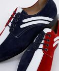 Delicious Junction Rifle Mod Jam Stage Tour Badger Shoe Suede Red White Blue
