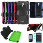 Phone Case For Alcatel Prepaid Pop Astro Holster Cover Tempered Glass Screen