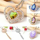 Gold/Silver Plated Gemstone Crystal Rhinestone Charm Pendent For Necklace Women
