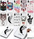 Cartoon Lucky Owl Feathers 10 Skins Soft Case For iPhone X 8 7 Plus 6S Plus 5 SE