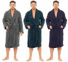 MENS TERRY TOWELLING 100% COTTON BATH ROBE DRESSING GOWNS LUXURY HT