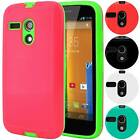 For Motorola Moto G 1st Gen Armor Shell Hybrid Case Shockproof Slim Hard Cover