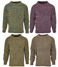 Boys Chunky Knitted Fishermans Crew Neck Winter Jumper 6 to 12 Years