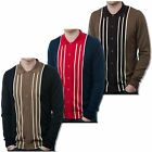 Art Gallery 60's Mod Retro Striped Button Through Knit Cardigan
