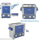 2L 3L 6L Ultrasonic Cleaner Ultra Sonic Heating Timer Cleaning Stainless Tank UK
