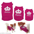 Pet Dog Cat Cute Princess T-shirt Clothes Summer Vest Coat Puppy Costumes Outfit