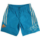 Adidas F50 Boys Kids Blue 3 Stripes Elasticated Swim Swimwear Shorts F50555 R1B