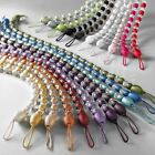 EARLE BEADED TIE BACK CURTAIN VOILE HOLD BACK CRYSTAL BEAD ALL COLOURS