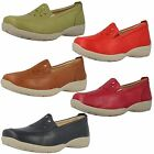 LADIES DB LEATHER WIDE FITTING SLIP ON CASUAL SHOES STYLE GALWAY