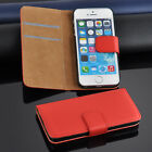 Cool Leather Flip Wallet Case Cover For Apple iPhone 5/5S Free Screen Protector