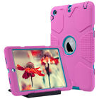 Shockproof Heavy Duty Hybrid Hard Case Cover With Kickstand For iPad Mini 1/2/3