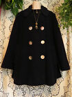 Vtg 70s dark navy near black Macintosh classic double breasted wool pea coat L
