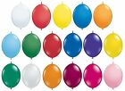 "Pack of 6 QUICK LINK 12"" Latex Balloons (Qualatex) Standard & Jewel Colours"