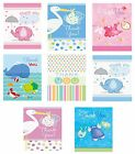 Baby Shower 8 Thank You Cards & Envelopes (Boy/Girl/Party/Notes/Party)