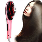 NEW 2015 ELECTRIC Automatic HAIR STRAIGHTENER Comb BRUSH IONIC TOOL UK STOCK