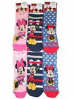 *REF299*Disney Mickey & Minnie Mouse 6 pack Non Skid Slipper Socks UK 9-12
