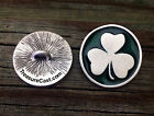 2 Shamrock Pewter Shank Buttons 3/4 Inch (19 mm) 7/8 Inch (22 mm) 1 Inch (25 mm)