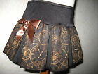 New COOL Girls Black Brown Vintage Antique Clocks pleated skirt party gift Punk