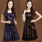 NEW! fashion Women's Clothing short sleeves chiffon Dresses